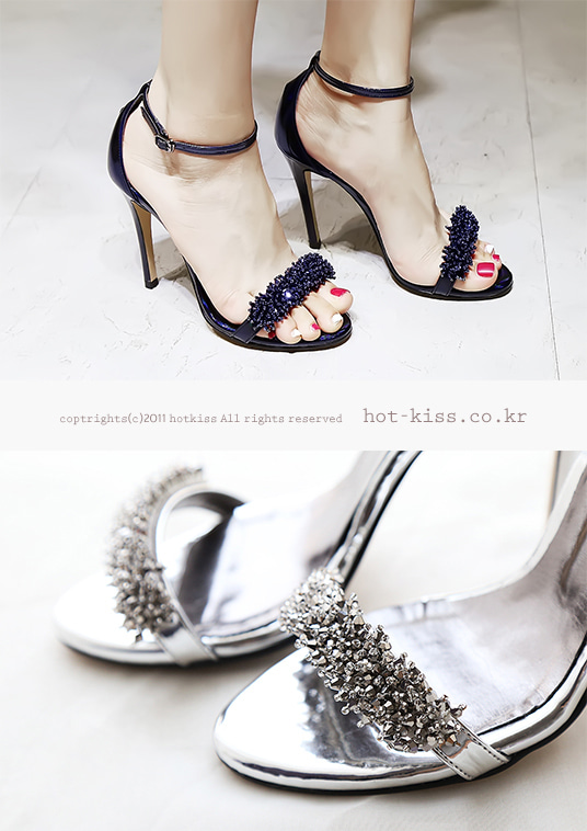 핫키스glitter strap heel(2color)