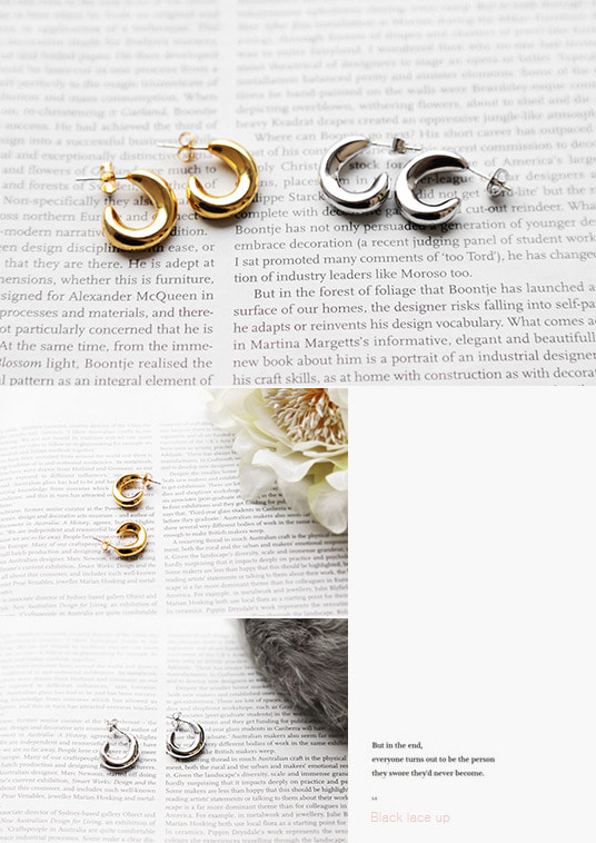 핫키스crescent moon earring(2color)
