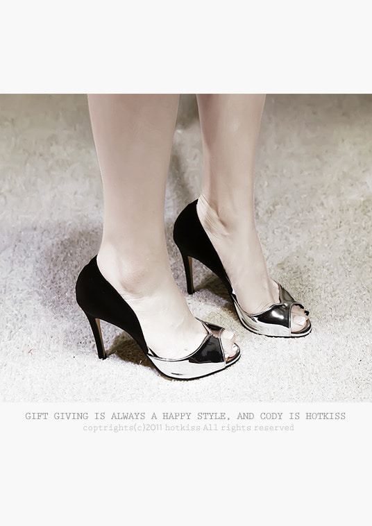 핫키스glam black heel